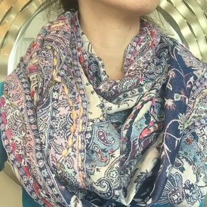 Anthropologie Raj multicolor Infinity scarf